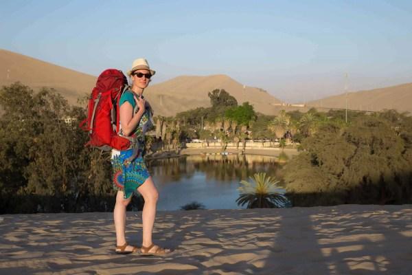 voyageuse, voyage, sac à dos