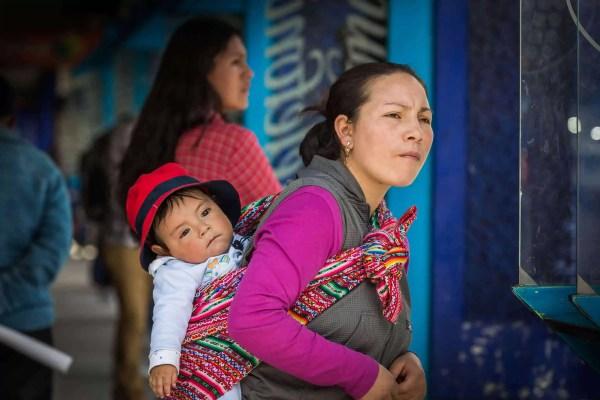 Pérou, photo, mère, bébé