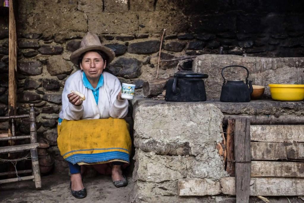 cuisinière, Andes, Pérou