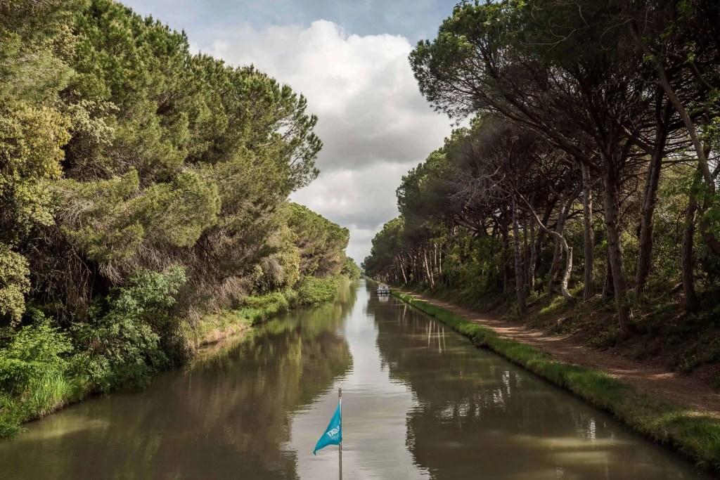 péniche, canal du Midi, vacances, France