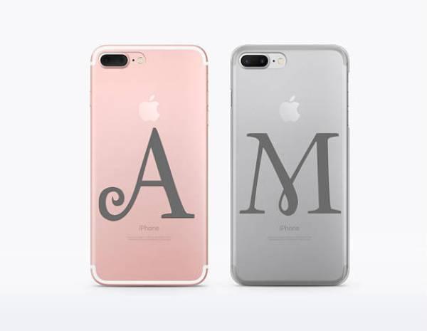 Customised Initials Couple Phone Case