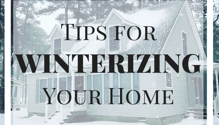 Winterize Your Home and Save Money