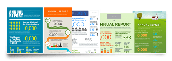 church annual report template