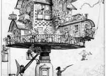 Aerial House, by Albert Robida