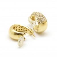 Boucles d'Oreilles bombées et pavées de diamants