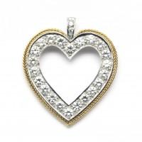 Pendentif coeur, double or