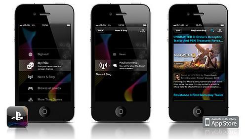 L'application Playstation pour iPhone