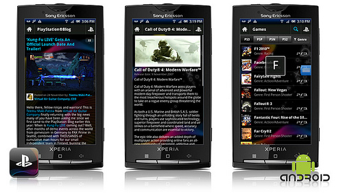 L'application Playstation pour Android
