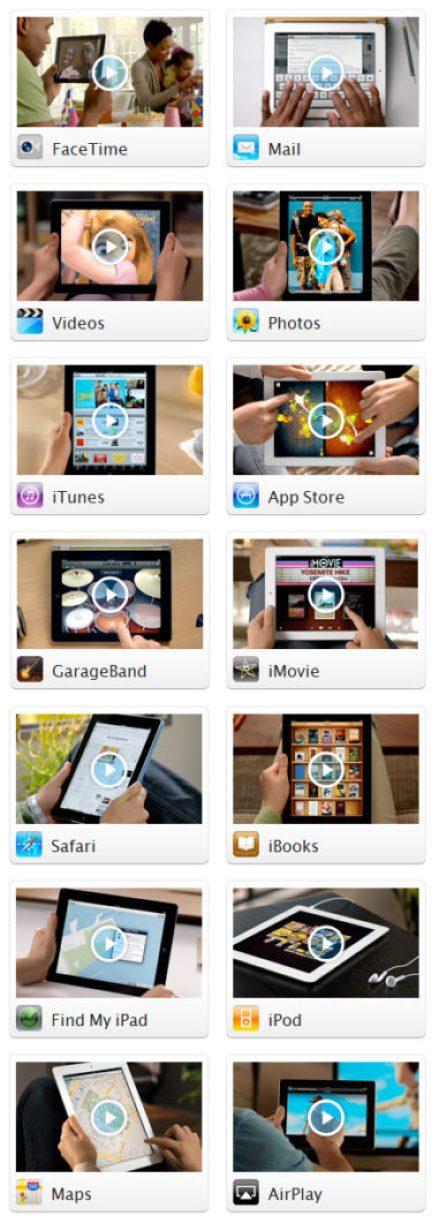 Les 14 vidéos sur l'iPad 2