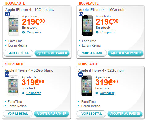 iPhone 4 blanc - Bouygues