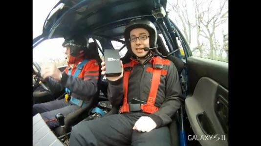 Le Galaxy S II fait du Rallye
