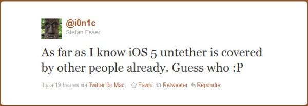 Le jailbreak untethered de l'iOS 5 déjà près