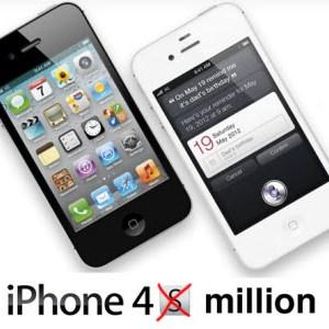 iPhone 4S - 4 millions d'unités vendues en seulement 3 jours!