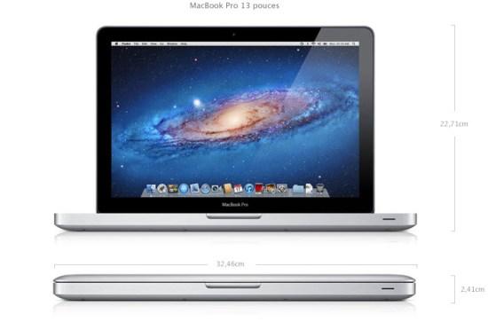 Apple met à jour les MacBook Pro - 13 pouces