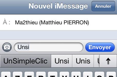 iOS 5 : comment activer le clavier de suggestions de corrections
