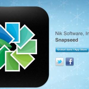 12 jours cadeaux iTunes 2011 – Jour 7 : l'application Snapseed