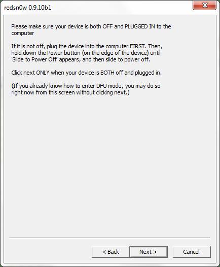 Pas à pas du jailbreak untethered de l'iOS 5 : 1ère méthode (MàJ #4)