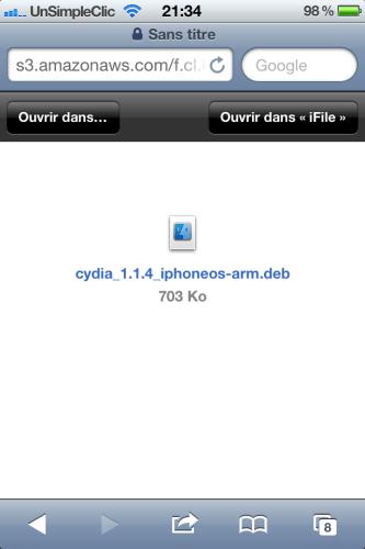 Cydia 1.1.4 mise à jour