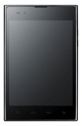 Le LG Optimus Vu de face
