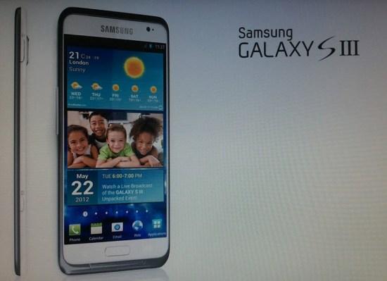 Le Samsung Galaxy S3 sera disponible en avril