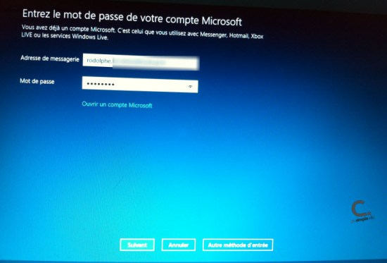 Windows 8 messagerie