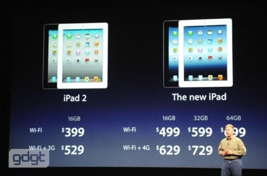 prix gamme iPad