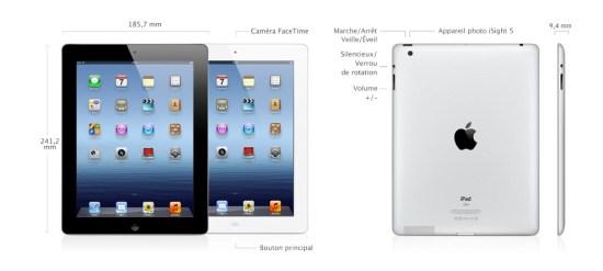 dimensions nouvel iPad