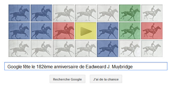 Google fête le 182ème anniversaire de Eadweard J. Muybridge