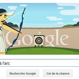 #Londres2012 - Google met à l'honneur le tir à l'arc