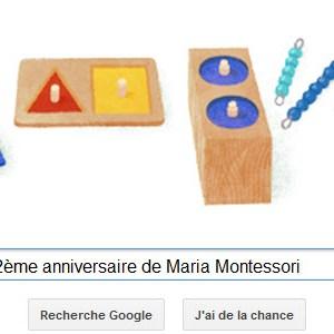 Google célèbre le 142ème anniversaire de Maria Montessori