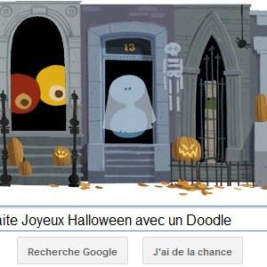 Google vous souhaite Joyeux Halloween avec un Doodle