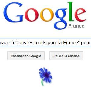 """Google rend hommage à """"tous les morts pour la France"""" pour le 11 novembre"""
