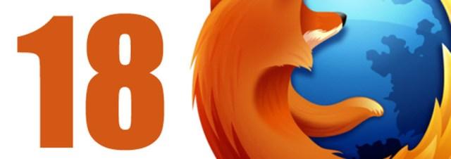 Firefox 18 est disponible au téléchargement !