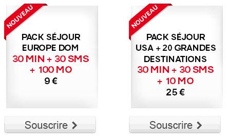 SFR Red met en place des Packs Séjours pour communiquer pendant vos vacances