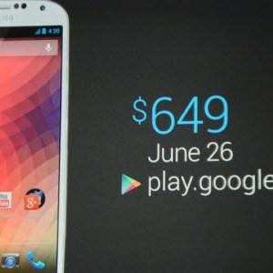 "Google I/O : un Samsung Galaxy S4 ""Google Edition"""