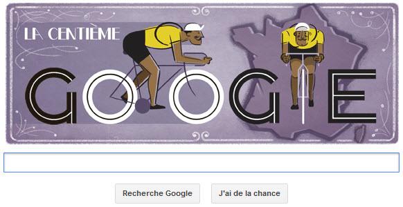 Google fête le 100ème Tour de France