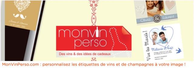 MonVinPerso.com personnalisation d'étiquettes de vins
