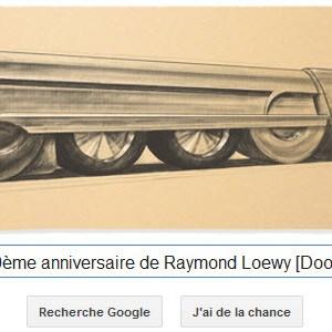 Google fête le 120ème anniversaire de Raymond Loewy [Doodle]