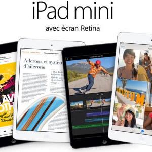 L'iPad Mini 2 ou Retina est disponible à partir de 399€ sur l'Apple Store