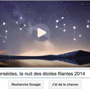 Google fête les Perséides, la nuit des étoiles filantes 2014 [Doodle]