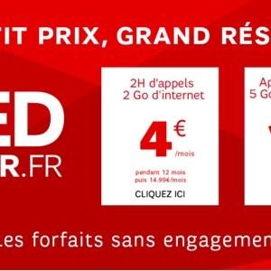 SFR brade ses forfaits RED sur Showroom Privé jusqu'au 9 septembre 2014