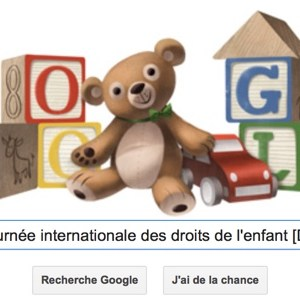 Google fête la journée internationale des droits de l'enfant [Doodle]