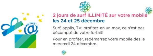 Bouygues Telecom – Encore 2 jours de surf illimité les 24 et 25 décembre prochain!