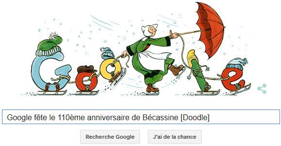 Google fête le 110ème anniversaire de Bécassine [Doodle]