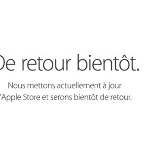 L'Apple Store en ligne en maintenance