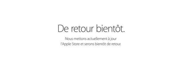 L'Apple Store en ligne en maintenance