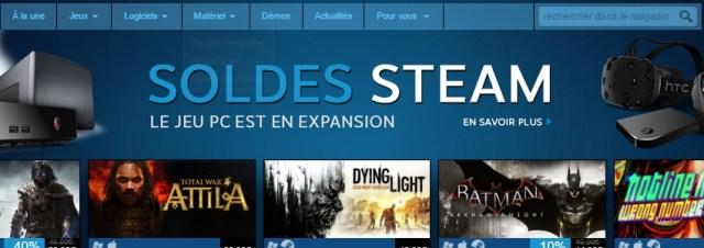 Soldes Steam à l'occasion de la promotion du boîtier TV Link