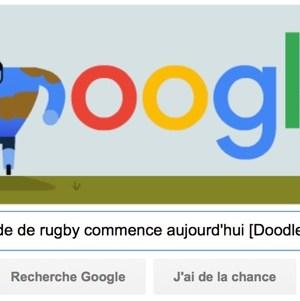 Google nous rappelle que la Coupe du Monde de rugby commence aujourd'hui [Doodle]