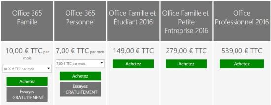 Tout sur Microsoft Office 2016 : principales nouveautés et tarifs