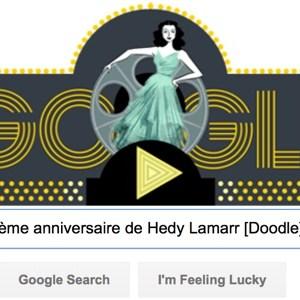 Google fête le 101ème anniversaire de Hedy Lamarr [#Doodle]